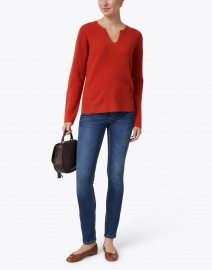 Repeat Cashmere - Paprika Red Cashmere Sweater
