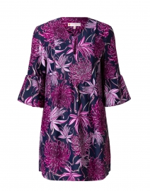 Kerry Pink and Navy Wildflower Printed Dress