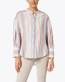 Veronica Beard - Grove Multi Stripe Cotton Shirt