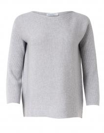Soprano Grey Ribbed Wool Sweater