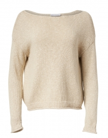 Oatmeal Marled Cotton Linen Sweater