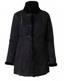 Angelique Black  Faux Shearling Reversible Coat
