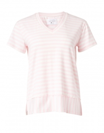Carnation Pink Striped Bamboo Cotton Top