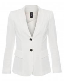 Ivory Jersey Knit Blazer