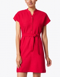A.P.C. - Nico Dark Red Ribbed Jersey Dress