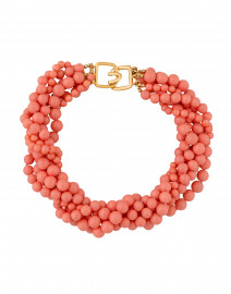 Pink Coral Multi Strand Necklace