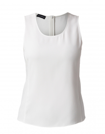 White Scoop Neck Shell