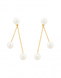 Pearlina Gold Drop Earrings