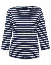 Galathee Navy and White Striped Shirt