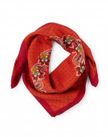 Weekend Max Mara - Panama Red Floral Silk Scarf