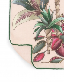 Rani Arabella - Pink Bird Silk Cashmere Scarf