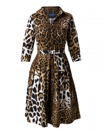 Audrey Leopard Stretch Cotton Dress
