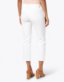 Elliott Lauren - White Stretch Cotton Five Pocket Crop Jean