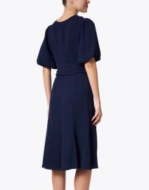 Shoshanna - Esmeralda Navy Stretch Crepe Dress