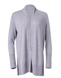 Grey Cashmere Open Cardigan