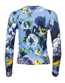 Samantha Sung - Charlotte Blue Copocabana Floral Silk and Cashmere Sweater