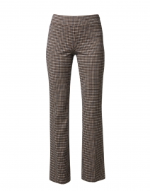 Berkeley Camel and Black Houndstooth Bootcut Pull On Pant