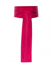 Magenta Wide Satin Ribbed Belt