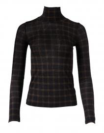 Black Plaid Cotton Modal Sweater