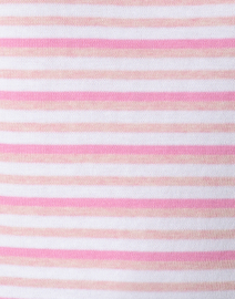 Blue - Pink and White Triple Striped Cotton Sweater