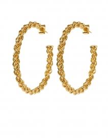 Gold Chain Small Hoop Earrings