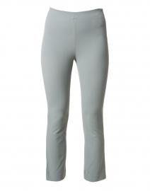Sea Green Cotton Bi-Stretch Crop Flare Pant