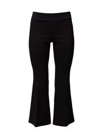 Black Stretch Pull On Flared Crop Pant