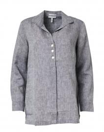 Beatrice Graphite Luxe Linen Faux Popover Tunic