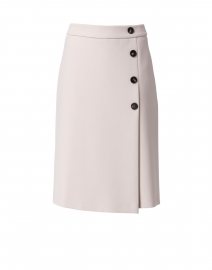 Beige Front Buttons Skirt