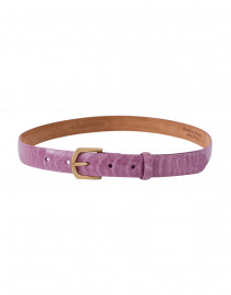 Lavender Ostrich Leather Belt