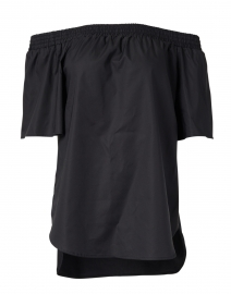 Sabra Black Off-The-Shoulder Cotton Top
