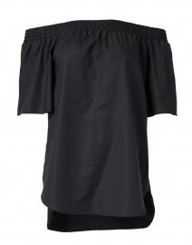 Sabra Black Off-The-Shoulder Cotton Top