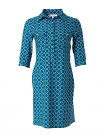 Sloane Jade Circle Geo Print Shirt Dress