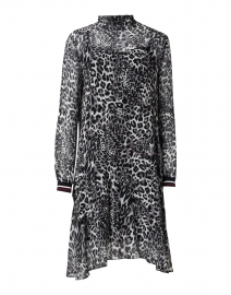 Grey, Black and White Animal Print Dress
