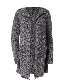 Midnight Blue and White Bouclé Tweed Jacket