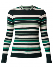 Elauren 2 Green Multi Striped Top