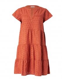 Pamela Terracotta Eyelet Cotton Dress