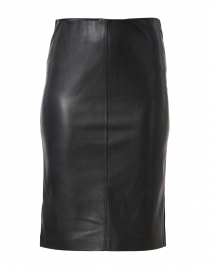 River Black Faux Leather Pencil Skirt