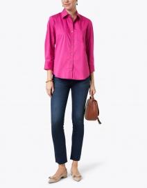 Finley - Alex Raspberry Pink Cotton Shirt