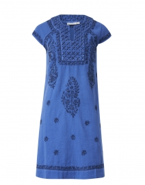 Faith Blue Embroidered Cotton Dress