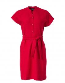 Nico Dark Red Ribbed Jersey Dress