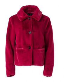 Raspberry Faux Fur Jacket
