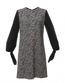 Dpolina Grey and Black Animal Printed Dress
