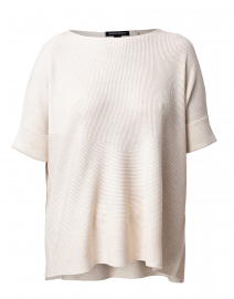 Light Beige Cotton Viscose Sweater