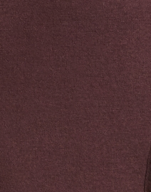 Rosso35 - Burgundy Wool Front Fringe Skirt