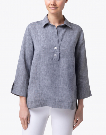 Hinson Wu - Aileen Graphite Button Back Linen Shirt