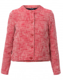 Prisca Red Cotton Tweed Jacket