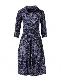 Samantha Sung - Audrey Navy Rose Macrame Stretch Cotton Dress