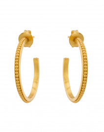 Siena Gold Medium Hoop Earrings