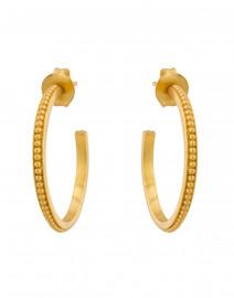 Siena Gold Medium Hoop Earrings